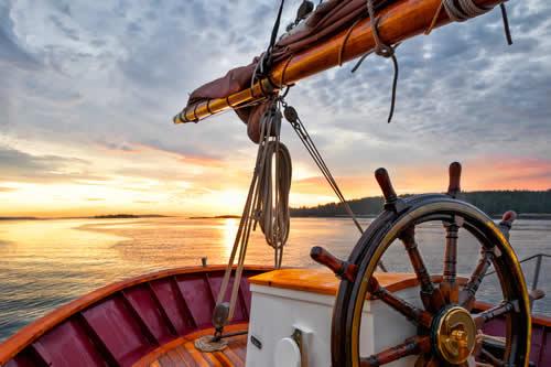 Sailboat at sun set